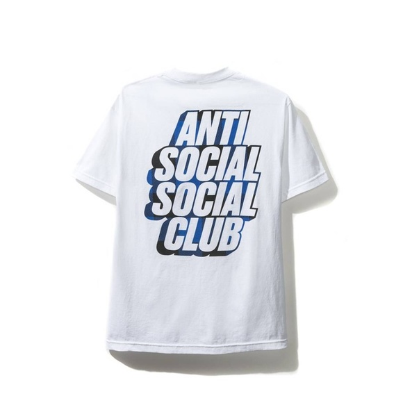 41aa37f87483 Anti Social Social Club Shirts | Blocked Blue White Tee | Poshmark